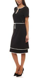 GUIDO MARIA KRETSCHMER Kleid Mini-Kleid maritimes Damen Abend-Kleid mit Paspeln Schwarz, Größe:40