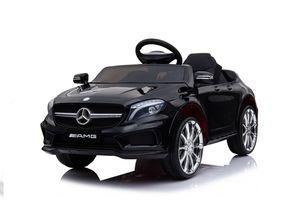 Mercedes-Benz Amg Gla45 Kinderauto 12V 2x35W  Kinderfahrzeug Kinder Elektroauto Mp3, Farbe:Schwarz