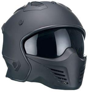 Jethelm 726 Motorradhelm Helm Größe L Chopperhelm schwarz matt Sturzhelm Rollerhelm