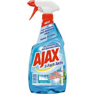 Ajax Glasreiniger 3 Fach Aktiv Antistreifen Anti Schmutz 500ml
