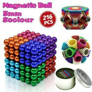 216 stücke 5mm Magnetkugeln Magie Perlen 3D Puzzle Ball Kugel Magnetic Building mit Metall Box
