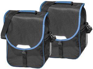 Fahrradtasche 16J030-B08 Gepäckträger Tasche schwarz/blau 2er Set