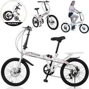 WISFOR 20 Zoll Faltrad Klapprad 7 Gang Fahrrad Höhenverstellbar V-Bremse für Damen Herren Kinder