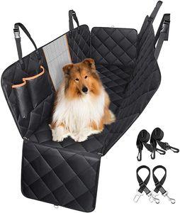 Autoschondecke für Hunde, Hundedecke für Auto Rückbank und Kofferraum, Wasserdicht Kratzfest und rutschfest mit Sichtfenster - Universal Hund Schutzdecke Rücksitz für Auto Und SUV