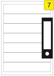 175 Etiketten / 25 Blatt DIN A4 / Größe: 192x39 / Ordner-Rückenschilder