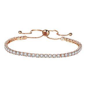 Einstellbare Kette Armband Schmuck Geschenk für Frauen / Mädchen Armreif Rose Gold wie beschrieben