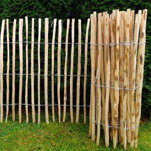 Staketenzaun Gartenzaun Zaunlatte Holzzaun Haselnussholz Bauernzaun Zaun 5m (Höhe: ca. 120 cm, Länge: ca. 5 m, Lattenabstand: ca. 7-8 cm)