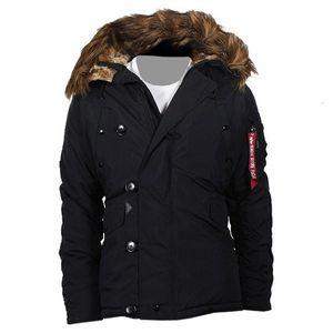 ALPHA Industries Explorer Winterjacke schwarz, Größe:XL