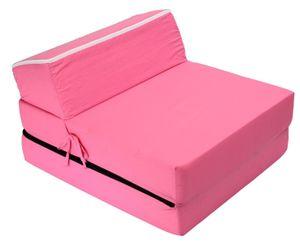 Best For Kids Kindersessel Pink Bettsessel Funktionssessel Jugend Kindermatratze zum schlafen und Spielen 3 in 1 60x160