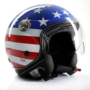 "Motorradhelm Jethelm Chopperhelm Cafe Racer CMX ""Stars and Stripes"" USA-Flag : XL"