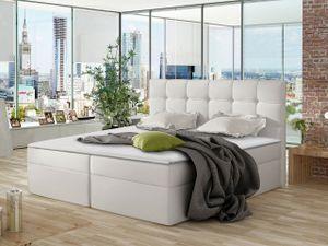 Mirjan24 Boxspringbett Nele, Ehebett mit zwei Bettkästen, Doppelbett mit Topper (Farbe: Soft 017, Größe: 120x200 cm)