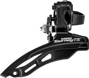 Shimano Tourney TZ FD-TZ500 Umwerfer 3x6/7-fach Down Swing Schelle tief schwarz Ausführung Ø28,6mm/66-69°