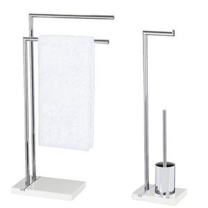 Handtuchhalter, WC-Garnitur und Toilettenpapier-Rollenhalter Noble White, WENKO