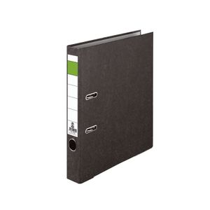 Ordner Grüner-Balken aus Karton für A4, 50mm Breite Wolkenmarmor