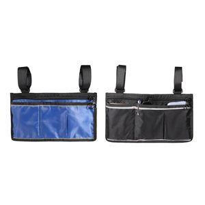 2 Stück Rollstuhl Aufbewahrungstasche, Rollstuhltasche, Rollstuhl Armlehnen Tasche, Mobilitätshilfe Rollstuhlzubehör Tasche