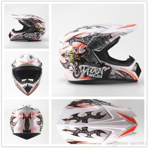 Megacooler Crosshelm Mejia Helm für Kinder weiß Größe M; Kinderhelm Motocrosshelm