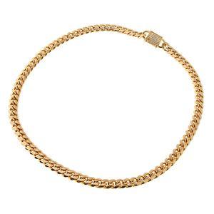 Goldfarbig Kette Schwer Panzerkette für Männer Hip Hop Edelstahl Halskette Größe 18 Zoll