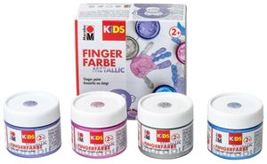 Marabu KiDS Fingerfarbe Metallic 100 ml 4er Set