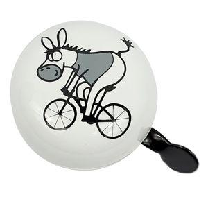 Fahrradklingel Bund Riesen XXL Ding Dong Glocke 80 mm Bild m Gross Bunt motiv Esel