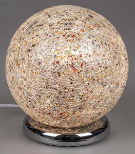 Formano Mosaik-Kugel 25 cm bunt Glas Kugelleuchte mit Touchfunktion