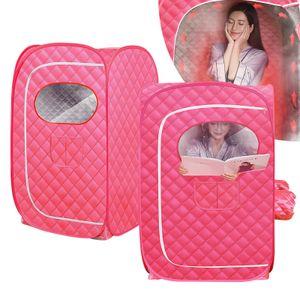 Tragbar Dampfsauna Dampfsaunabox Heimsauna Mobile Sitzsauna Wärmekabine Saunakabine Saunazelt für 2 Personen