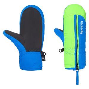 McKinley Kinder Skihandschuhe Adriel II Blau / Grün 4