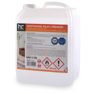 2 x 5 Liter Bioethanol 96,6% Premium für Ethanol-Brenner oder Kamine