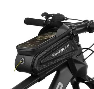 WHEEL UP Fahrrad XL Rahmentasche Fahrradtasche Oberrohrtasche für 6,0'' Handys