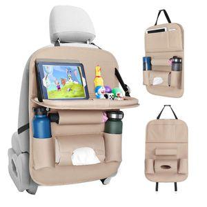Auto Rückenlehnenschutz, Autositz Organizer, Rücksitz Organizer mit Tablet/Telefon Aufbewahrung, Wasserdicht Multifunktionale Auto Aufbewahrungstasche mit vielen Sack (1 Stück)