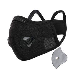 PM2.5 Aktivkohle Anti-Fog Soft Warm Cycling Sportmaske-Schwarz