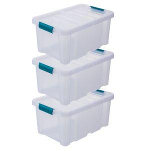 3 x Aufbewahrungsboxen mit Deckel 4,5 Liter