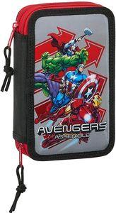 Safta Avengers Heroes Pencil Case Double Small 28 Pcs Multicolor One Size