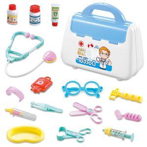 15 tlg. Doktor Arztkoffer Spielset Medizinische Medizinisch Zubehör Rollenspiel Spielzeug Kit für Kinder, Farbe: Blau
