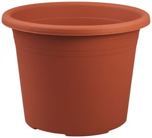 10er Set Topf Cylindro 25 cm aus Kunststoff Sparpaket, Farbe:terracotta
