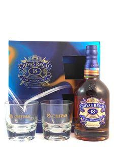 Chivas Regal 18 Jahre Geschenkset mit 2 Tumblern 0,7 Liter 40 % Vol.