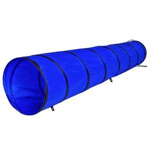 dibea Hundetunnel, Spieltunnel, Hundehöhle, Agilitytunnel blau, Größe M (300 x 50 cm)