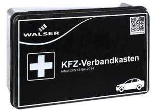 Walser KFZ Verbandskasten gemäss DIN 13164, 22 x 15 x 7,5 cm schwarz, 44262