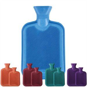 Wärmflasche Heizkissen Wasserkissen 1 Liter, Farbe: Blau