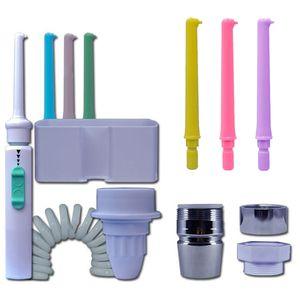 6 Duese Wasserhahn Munddusche Wasser Zahn Flosser Tragbare Zahnduschen Wasserstrahl Zahnbuerste Munddusche Zahnreinigungswerkzeug