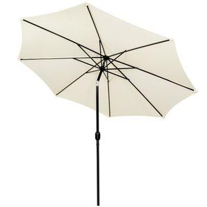 Sonnenschirm Gartenschirm mit Kurbel Spannweite 2,9m Sonnenschutz - Gelbton