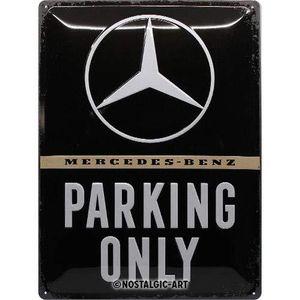 Nostalgic-Art - Blechschild Metallschild 30x40cm - Mercedes-Benz Parking Only