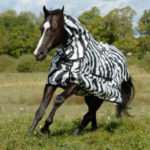 Bucas Sweet-itch Full-Neck - zebra, Größe:140