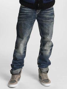 Cipo & Baxx Männer Straight Fit Jeans Damian in blau Cipo & Baxx