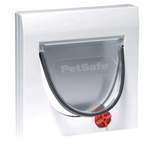 PetSafe Manuelle 4-Wege-Katzenklappe mit Tunnel Classic 917 Weiß 5030