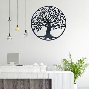 MECO Baum des Lebens Metall Baum Wanddeko Metall Stammbaum Wanddekoration 3D Metallskulptur Wanddekoration 60cm