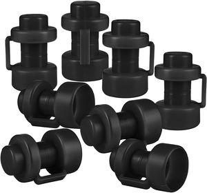 ONVAYA® Trampolin Endkappen | Set mit 8 Pfostenkappen für die Netzstangen des Trampolins | schwarz