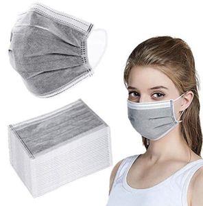 50 Stück Mundschutz 3-lagig Maske , Hygienemaske Schutz Einwegmaske Schutzmaske , Mundschutzmasken,Staubdichte Schönheitsmaske,Staubdicht,Anti-Speichel , grau