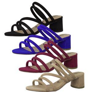 Tamaris 1-27237-24 Damen Schuhe Pantolette Clogs Riemchen, Größe:38 EU, Farbe:Rot