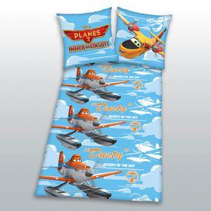 "Herding Flanell Biber Kinder Jungen Bettwäsche ""Disney Planes 2"" 135x200"