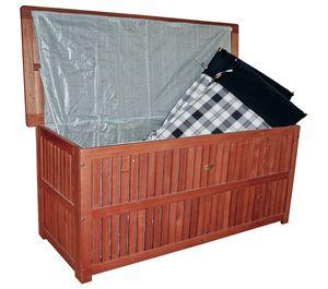 Garden Pleasure Auflagenbox Garten Box Truhe Auflagen Kissenbox Eukalyptus Holz